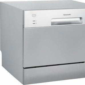 Geschirrspüler WQP6-3602E silver A+, A+, 6,5 Liter, 6 Maßgedecke, Energieeffizienz: A+, silber, Energieeffizienzklasse: A+, Hanseatic