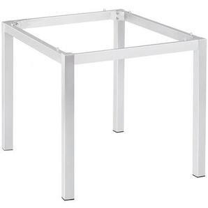 -Tischgestell 90 x 90 cm weiß, 72x90 cm
