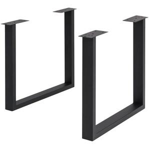 Tischgestell  Tuxa massiv ¦ schwarz ¦ Metall, pulverbeschichtet ¦ Maße (cm): B: 73 H: 72 T: 8