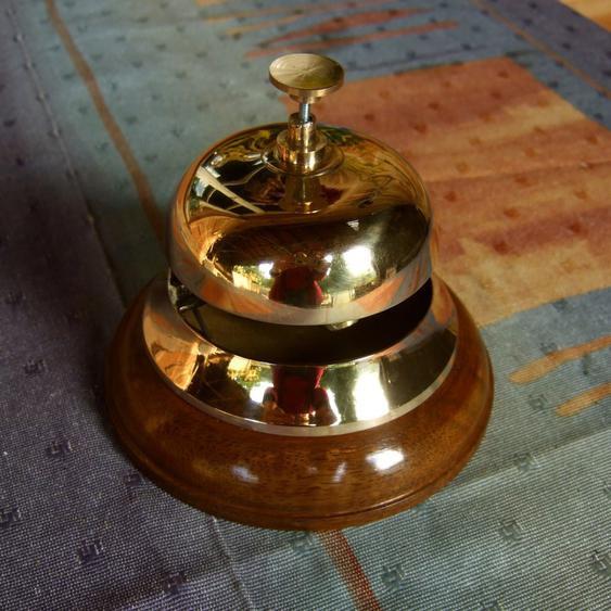 Tischglocke, Nostalgie Hotelglocke für die Rezeption, Glocke