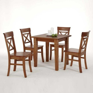 Tischgruppe aus Kiefer Massivholz Landhausstil (5-teilig)