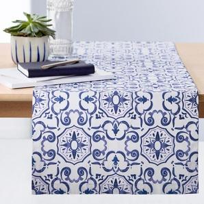 Tischläufer - blau - 100% Baumwolle -