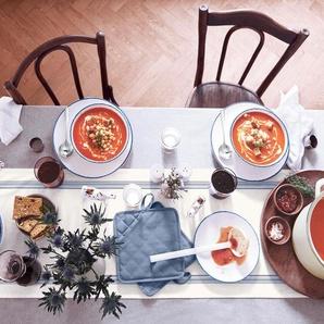 Tischläufer - blau - Leinen -