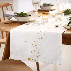 Tischläufer - gold - 100% Baumwolle -