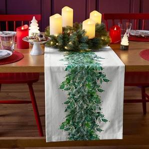 Tischläufer - grün - 100% Baumwolle -