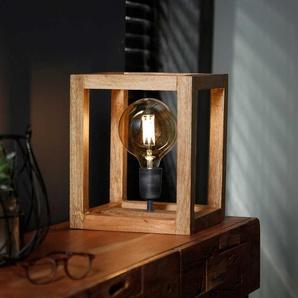 Tischlampe aus Massivholz modern