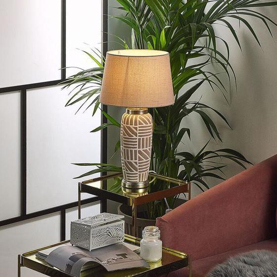 Tischlampe beige 48 cm TRAISEN