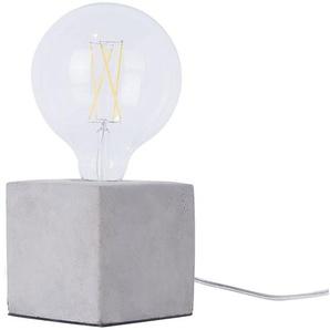 Tischlampe Beton hellgrau 11 cm quadratisch DEVA