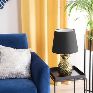 Tischlampe gold 52 cm rund PINEAPPLE