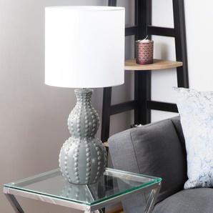 Tischlampe grau/weiss 59 cm TRISANNA