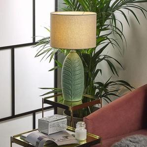 Tischlampe grün 59 cm Trommelform OHIO