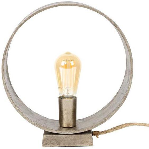 Tischlampe in Nickelfarben Metall