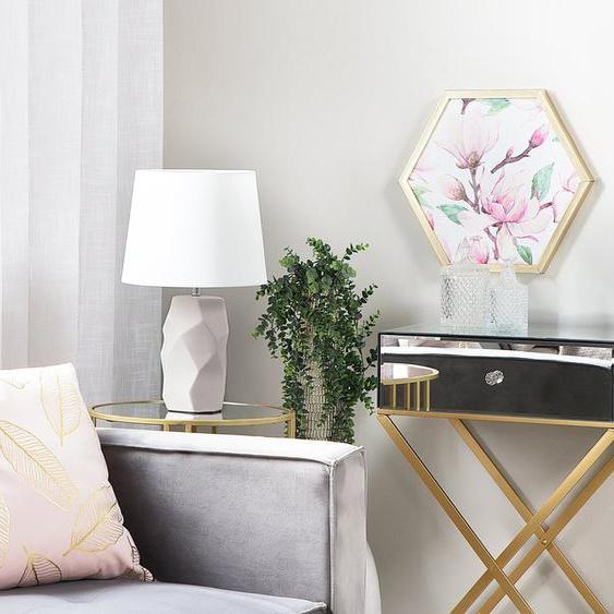 Tischlampe rosa 43 cm ELIA