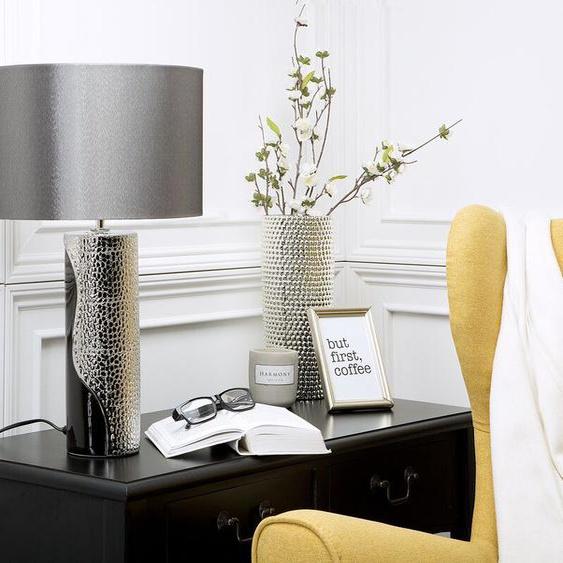Tischlampe schwarz/silber 52 cm AIKEN