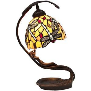 Tischlampe Tiffany | 28*20*40 cm E14/max 1*25W | Gelb | LumiLamp | 5LL-6096