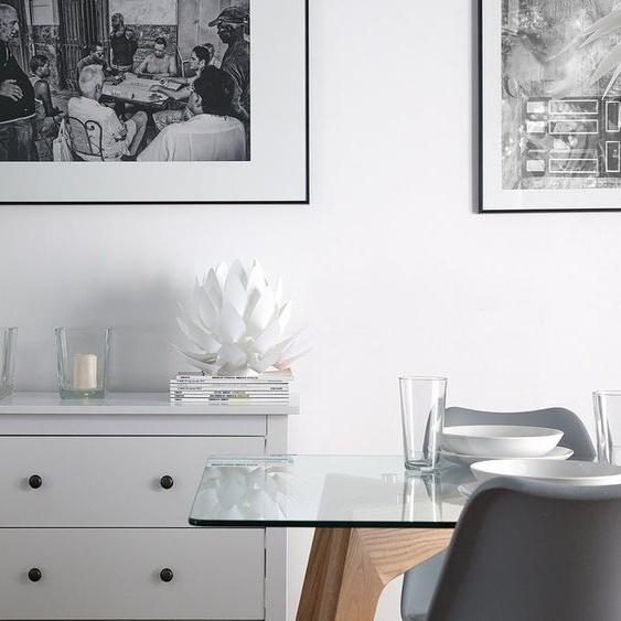 Tischlampe weiß 30 cm MUSONE