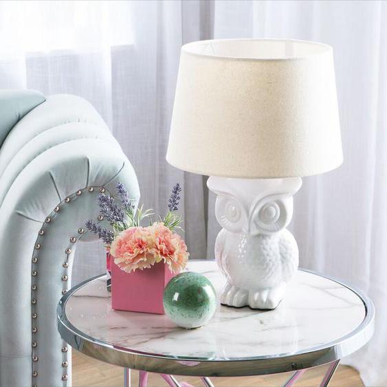 Tischlampe weiß 42 cm OWL