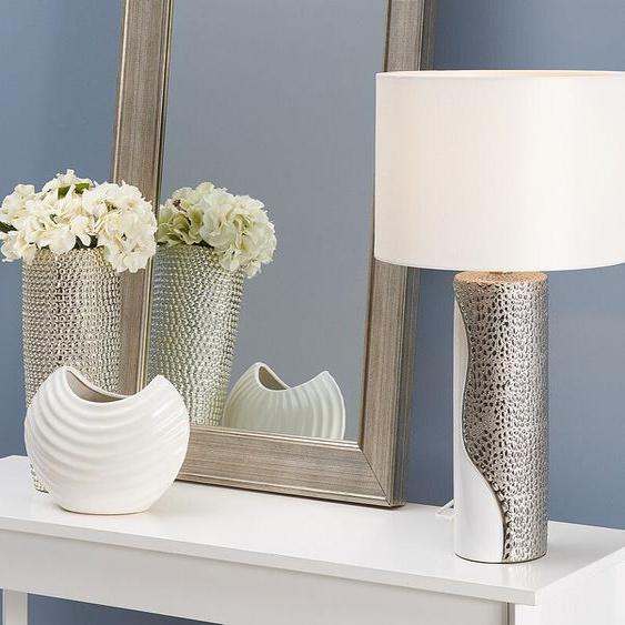 Tischlampe weiß/silber 52 cm AIKEN