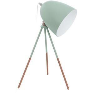 : Tischleuchte, Weiß, Mintgrün, B/H/T 29 44 29