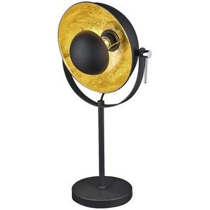 : Tischleuchte, Schwarz, Gold, B/H 25,5 56,5