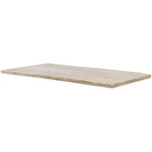 Tischplatte  Tuxa massiv ¦ weiß ¦ gekälkt, gebürstet, Massivholz ¦ Maße (cm): B: 90 H: 3,6