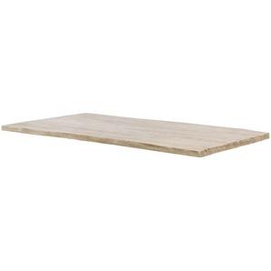 Tischplatte  Tuxa massiv ¦ weiß ¦ Massivholz, gebürstet, gekälkt ¦ Maße (cm): B: 100 H: 3,6