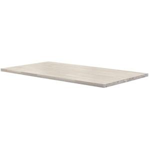 Tischplatte  Tuxa massiv ¦ weiß ¦ Massivholz, gekälkt ¦ Maße (cm): B: 100 H: 4