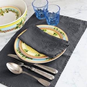 Tischset anthrazit - bunt - 100 % Leinen - Tischwäsche