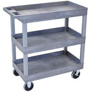 keine Marke Tischwagen   grau 81,0 x 46,0 cm bis 230,0 kg