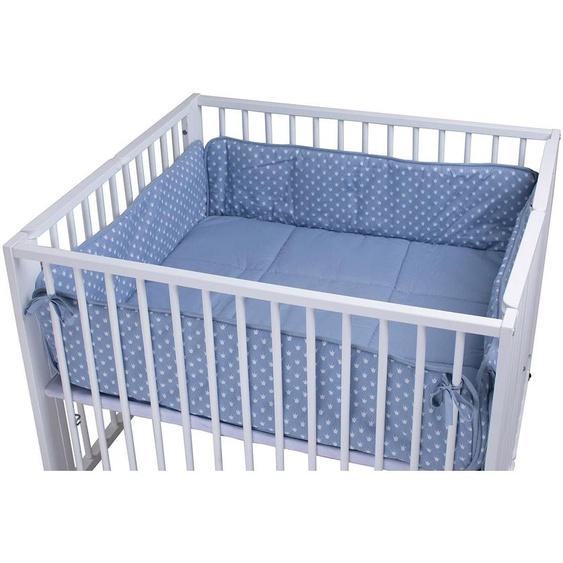 tiSsi Laufgittereinlage Moritz, Kronen blau, Made in Europe Einheitsgröße blau Baby Laufgittereinlagen Babygitter