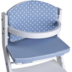 tiSsi® Kinder-Sitzauflage »Kronen blau«, für tiSsi® Hochstuhl; Made in Europe