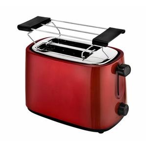 Toaster 2 Scheiben 750 Watt Metallic-Rot