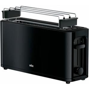 Toaster HT 3110 BK, schwarz, Braun