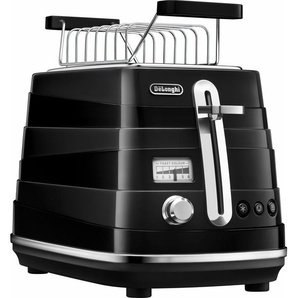Toaster Avvolta CTA 2103.BK, schwarz, DeLonghi