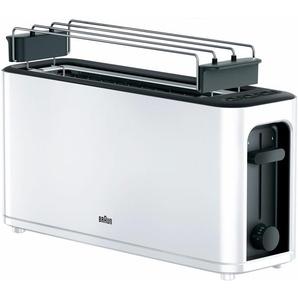 Toaster HT 3110 WH, weiß, Braun