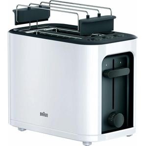 Toaster HT 3010 WH, weiß, Braun