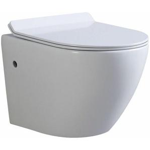 Toilette Hänge WC Spülrandlos inkl. WC Sitz mit Absenkautomatik SOFTCLOSE + abnehmbar Franco - I-FLAIR