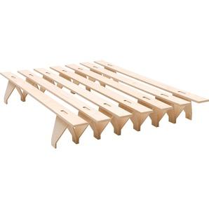 Tojo Futonbett lieg, reduziertes Design, in mehreren Breiten Liegefläche B/L: 140 cm x 200 Höhe: 27 cm, kein Härtegrad beige Futonbetten Betten Schlafzimmer