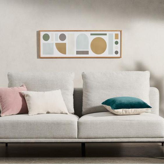 Tom Pigeon Banner gerahmter Kunstdruck (30 x 100 cm)