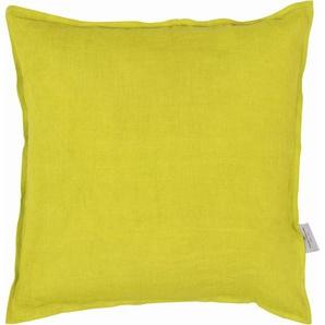 Tom Tailor Kissenhülle »Stone-Washed«, 40x40 cm, gelb, blickdichter Stoff