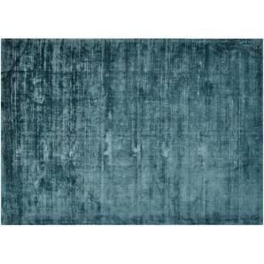 Tom Tailor Teppich handgewebt  Shine ¦ blau ¦ reine Viskose ¦ Maße (cm): B: 85 Teppiche  Auslegware » Höffner