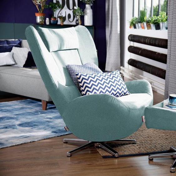 TOM TAILOR Loungesessel »TOM PURE«, mit Metall-Drehfuß in Chrom