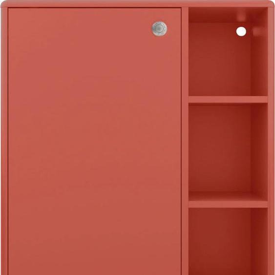 TOM TAILOR Midischrank COLOR BATH, mit 1 Tür, hängend montierbar, Breite 65 cm x 100 33 (B H T) cm, 1-türig rot Bad-Midischränke Badmöbel Schränke