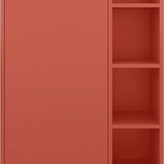 TOM TAILOR Midischrank COLOR BATH, mit 1 Tür, Füßen in Eiche geölt, Breite 65 cm x 118 33 (B H T) cm, 1-türig rot Bad-Midischränke Badmöbel Schränke