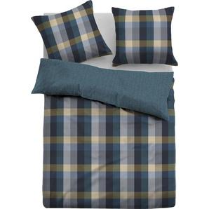 TOM TAILOR Wendebettwäsche Diana, im trendigen Design B/L: 155 cm x 220 (1 St.), 80 Flanell blau Bettwäsche nach Größe Bettwäsche, Bettlaken und Betttücher