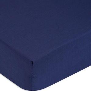 Tommy Hilfiger Spannbettlaken »Perkal«, 160/200 cm, blau