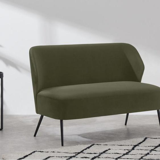 Topeka 2-Sitzer Sofa, Samt in Ahorngruen