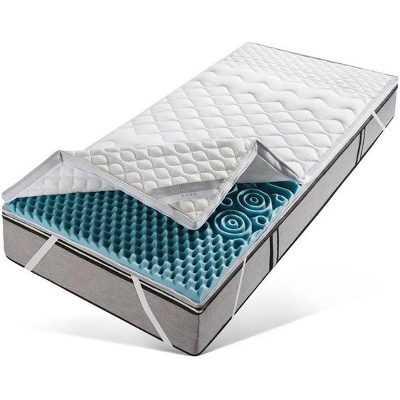 Topper »Softly XXL PLUS Silverline«, fan Schlafkomfort Exklusiv, 7 cm hoch, Raumgewicht: 35, Kaltschaum