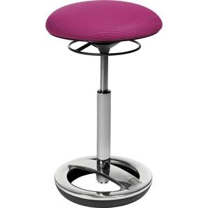 TOPSTAR Drehhocker Sitness High Bob B/H/T: 38,5 cm x 70 cm, Aluminium poliert lila Bürostühle Arbeitszimmer und Büro Möbel sofort lieferbar