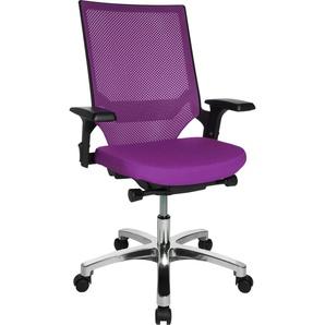 TOPSTAR Drehstuhl Autosyncron 1 Einheitsgröße lila Bürostühle Arbeitszimmer und Büro Möbel sofort lieferbar